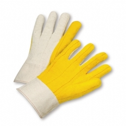 Yellow Chore Palm canvas Back Glove from West Chester