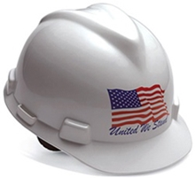 "V-Gard Patriotic ""United We Stand"" Hard Hat from MSA"