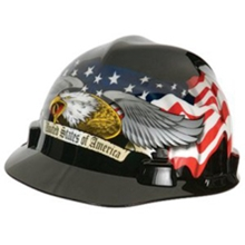V-Gard Patriotic American Eagle Hard Hat from MSA