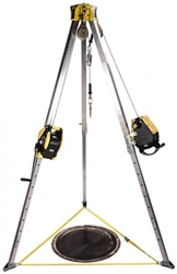 Confined Space Entry Kit, 50 Workman Rescuer, 65 Workman Winch, Stainless Steel Cable