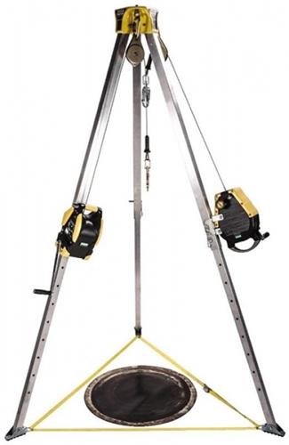 Confined Space Entry Kit, 50' Workman Rescuer, 65' Workman Winch, Stainless Steel Cable from MSA