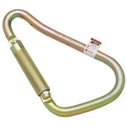 "ANSI Z359-2007 Compliant Automatic Twist-Lock Steel Carabiner, 2"" Gate Opening from Miller by Honeywell"
