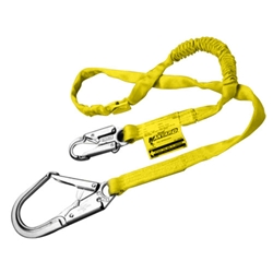 Manyard Shock-Absorbing Lanyard, Web Choke Off Loop and Snap Hook from Miller by Honeywell