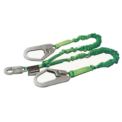 Manyard 2 Stretchable Shock-Absorbing Lanyard, Two Legs Rebar Hooks from Miller by Honeywell