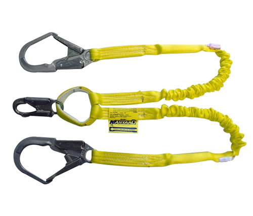 Manyard Shock-Absorbing Lanyard, Two Legs Snap Hook from Miller by Honeywell