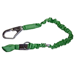 "Manyard 2 Stretchable Shock-Absorbing Lanyard, Web Choke Loop and Rebar Hook & ""O"" Ring Extension from Miller by Honeywell"