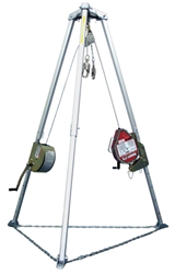 MightEvac Self Retracting Lifeline With Tripod, and Manhandler Hoist from Miller by Honeywell