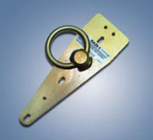 Removable Single Point Anchorage for Flat Roofs/ Surfaces w/ Swivel D-Ring & Hardware