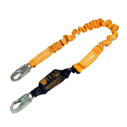 Titan II Stretch Pack-Type Shock-Absorbing Lanyard from Miller by Honeywell