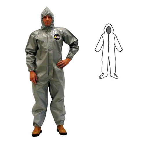 Zytron 200 Coverall w/ Hood, Boots, Elastic Wrists, Bound Seams from Kappler