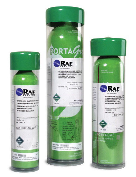 RAE Systems 4-Gas HCN Mix (50% LEL, 50ppm CO, 10ppm HCN, 18% O2), Green Cylinder from RAE Systems by Honeywell