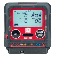 GX-3R Personal 4-Gas Monitor for O2/LEL/CO/H2S gx3r