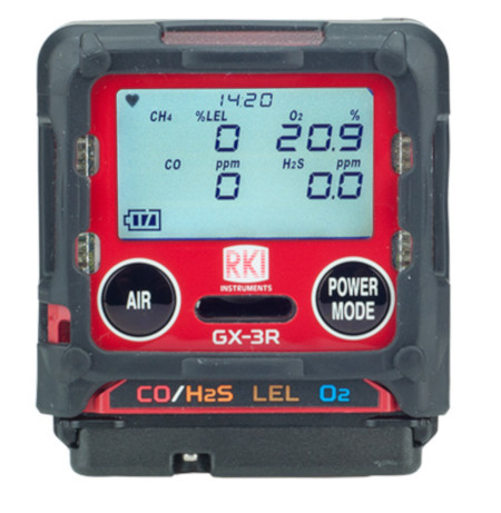 GX-3R Personal 4-Gas Monitor for O2/LEL/CO/H2S from RKI Instruments