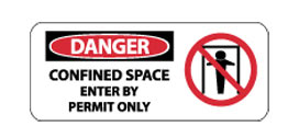 Graphic OSHA Safety Signs - Danger Confined Space
