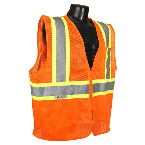 Economy Class 2 Safety Vest with Two-Tone Trim