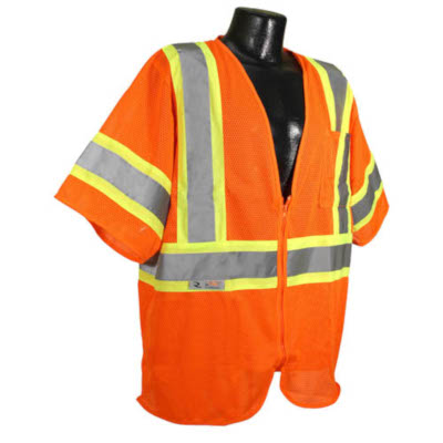 Economy Mesh Safety Vest w/ Two-Tone Trim, Class 3 from Radians