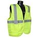 Economy Green Solid Class 2 Safety Vest With Zipper