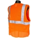 Economy Orange Mesh Class 2 Safety Vest With Zipper