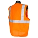 Economy Orange Solid Class 2 Safety Vest With Zipper