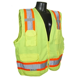 Heavy Duty Solid Twill Surveyor Vest, Class 2 from Radians