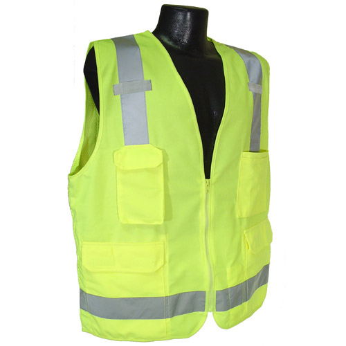 Surveyor Safety Vest w/ Solid Front & Mesh Back, Class 2 from Radians