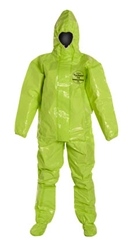 Tychem 10000 Coverall w/ Respirator Fit Hood, Elastic Wrists, Attached Socks & Outer Boot Flaps