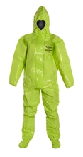 Tychem 10000 Coverall w/ Respirator Fit Hood, Elastic Wrists, Attached Socks & Outer Boot Flaps from DuPont