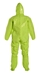 Tychem 10000 Coverall w/ Respirator Fit Hood, Elastic Wrists, Attached Socks & Outer Boot Flaps - TK128T  LY  00