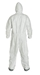 Tyvek 400 Coverall w/ Attached Resp. Fit Hood & Boots, Elastic Wrists - TY122S  WH  00