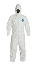 Tyvek 400 Coverall w/ Respirator Fit Hood, Elastic Wrists & Ankles from DuPont