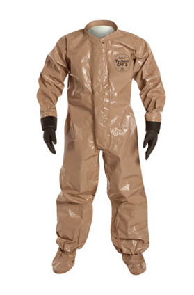 Tychem 5000 Coverall w/ Attached Gloves, Socks & Outer Boot Flaps from DuPont