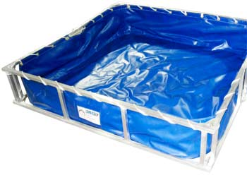 Collapsible Aluminum Decon Pools Great Lakes, Collapsible Aluminum Decon Pools, ALFDP, Husky