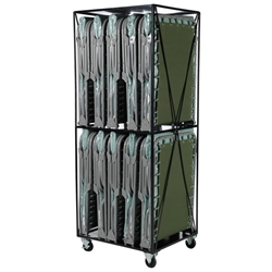 Cart w/ 10 XM-3 Cots from Blantex