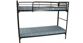 "Blantex Camp Bunk Bed with 2 Guardrails and 2 4"" Foam Mats"