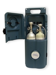 Bump Check Station for Two Gas Cylinders