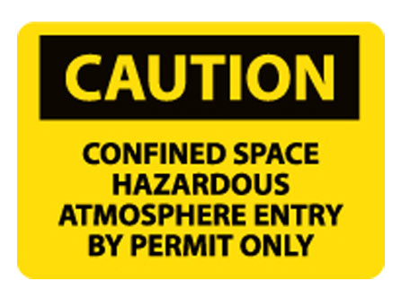 OSHA Signs - Caution Confined Space Hazardous Atmosphere from National Marker