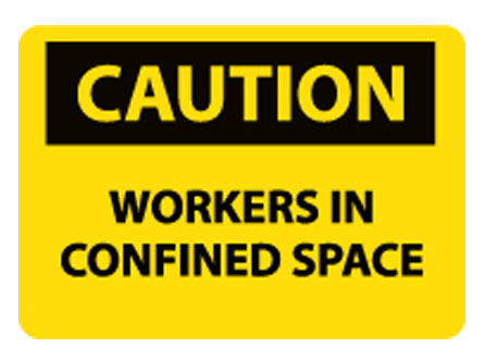OSHA Signs - Caution Workers in Confined Space from National Marker