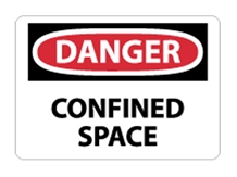 OSHA Sign - Danger Confined Space Sign from National Marker