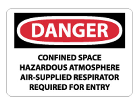 OSHA Sign - Danger Confined Space Hazardous Atmosphere from National Marker