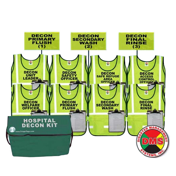 Hospital Decon Vest & Flag Kit from Disaster Management Systems