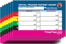 EMT3 Initial Triaged Patient Count Card Refill from Disaster Management Systems