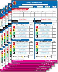 EMT3 Triage Count Worksheet Refill from Disaster Management Systems