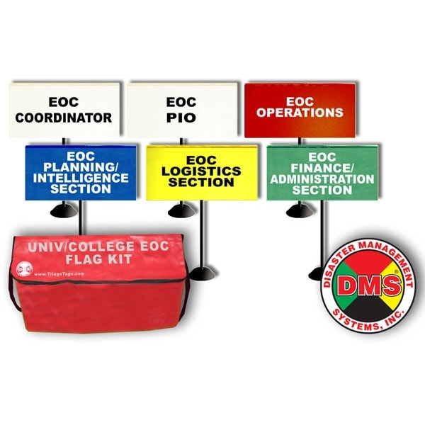 EOC Tabletop Flag Kit for Universities and Colleges from Disaster Management Systems