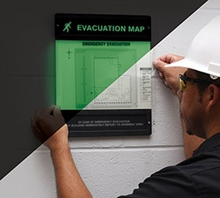 Evacuation Map Holder from Accuform Signs