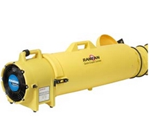 "8"" 115V Blower/Exhauster, Quick-Couple Canister w/ 25' duct"