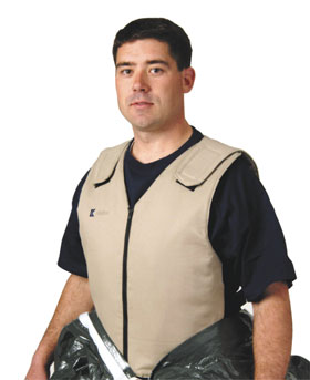 Banox FR Cotton Vest. 4 Cooling Packs Fit Into Pockets on Front & Back of Vest from Kappler