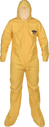 ChemMax 1 Coverall w/ Hood, Boots and Elastic Wrists from Lakeland Industries
