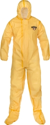 ChemMax 1 Coverall w/ Hood, Attached Boots from Lakeland Industries