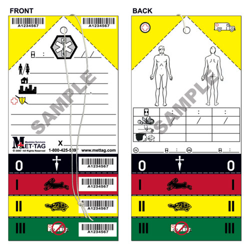 Medical Emergency Triage Tag from Mettag