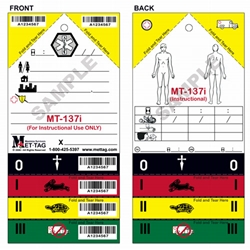 Informational / Instructional Medical Emergency Triage Tag from Mettag